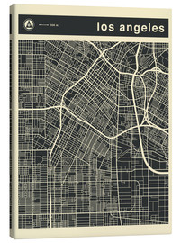 Leinwandbild  Los Angeles Stadtplan - Jazzberry Blue