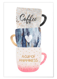 Premium-Poster  A cup of happiness - Elisabeth Fredriksson