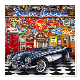 Premium-Poster Dream Garage