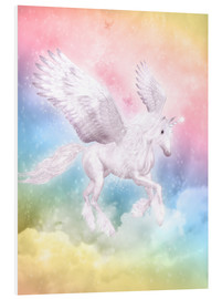 Hartschaumbild  Einhorn Pegasus - Big Dreams - Dolphins DreamDesign