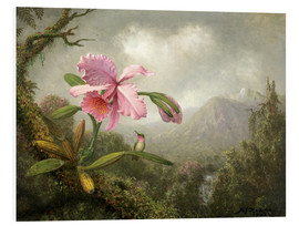 Martin Johnson Heade - Orchidee und Kolibri