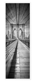 Premium-Poster NEW YORK CITY Brooklyn Bridge Panorama