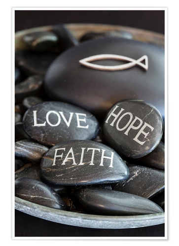 Premium-Poster Love Hope Faith