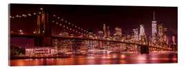 Acrylglasbild  Brooklyn Bridge und Manhattan Skyline - Melanie Viola