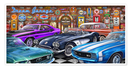 Premium-Poster Dream Garage II