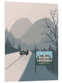 Hartschaumbild  Alternative welcome to twin peaks art - 2ToastDesign
