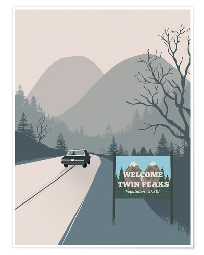 Premium-Poster Welcome to Twin Peaks