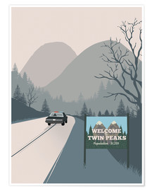Premium-Poster  Alternative welcome to twin peaks art - 2ToastDesign