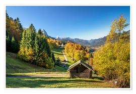 Premium-Poster Herbst in Oberbayern