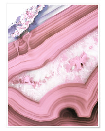 Poster blush agate