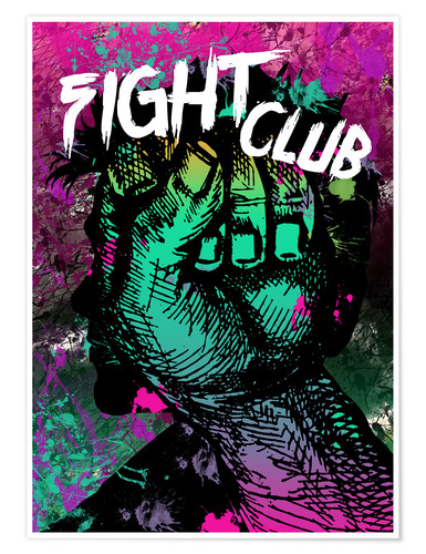 Premium-Poster Fight Club - Minimal alternative Film Fanart #1