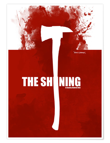 Premium-Poster The Shining - Minmal Movie alternative Fanart