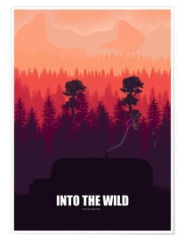 Premium-Poster Into the Wild - Minimal Film Fanart alternative