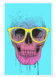 Premium-Poster Pop art skull with glasses
