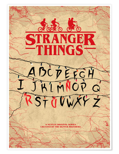 Premium-Poster Stranger Things - Minimal TV-Show Fanart alternative