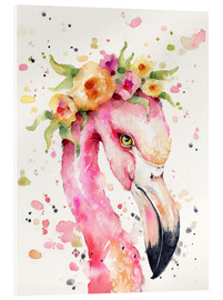 Acrylglasbild  Kleiner Flamingo - Sillier Than Sally