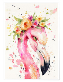 Premium-Poster Little Flamingo