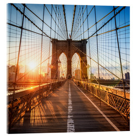 Acrylglasbild  Brooklyn Bridge in New York City - Jan Christopher Becke