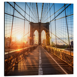 Alubild  Brooklyn Bridge in New York City - Jan Christopher Becke