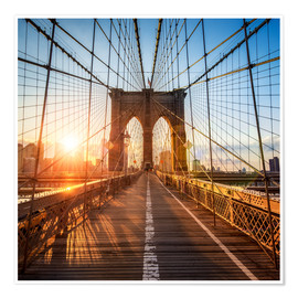 Premium-Poster Brooklyn Bridge in New York City