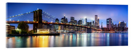 Acrylglasbild  Brooklyn Bridge Panorama in New York City, USA - Jan Christopher Becke
