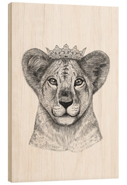 Holzbild  The lion prince - Valeriya Korenkova