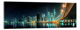 Acrylglasbild  Panoramablick - Dubai Business Bay