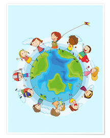 Premium-Poster  Kinder der Welt - Kidz Collection