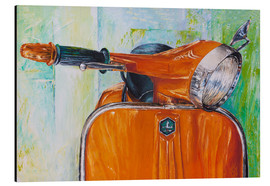 Alubild  Vespa orange - Renate Berghaus