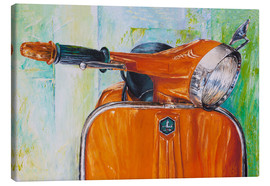 Leinwandbild  Vespa orange - Renate Berghaus