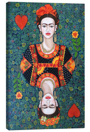Leinwandbild  Frida, queen hearts - Madalena Lobao-Tello