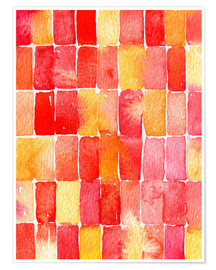 Nic Squirrell - Geometrisches abstraktes Aquarell August