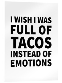 Creative Angel - I wish I was full of tacos instead on emotions