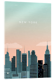 Acrylglasbild  New York Illustration - Katinka Reinke