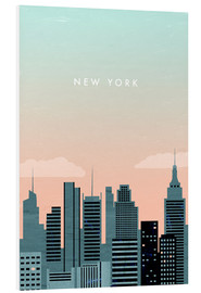 Hartschaumbild  New York Illustration - Katinka Reinke