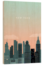 Holzbild  New York Illustration - Katinka Reinke