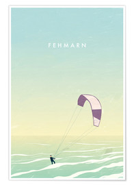Premium-Poster Fehmarn Illustration