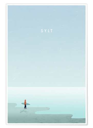 Premium-Poster Sylt Illustration