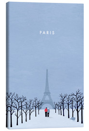 Leinwandbild  Paris Illustration - Katinka Reinke