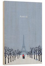 Holzbild  Paris Illustration - Katinka Reinke