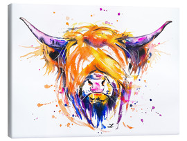Leinwandbild  Scottish Highland Cow - Zaira Dzhaubaeva