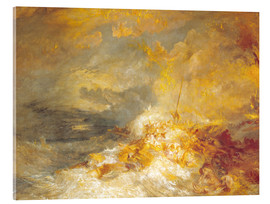 Acrylglasbild  Feuer auf See - Joseph Mallord William Turner