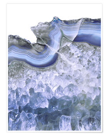Poster intense blue agate