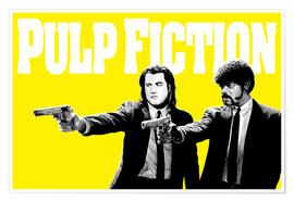 Premium-Poster Pulp Fiction Gelb BANG