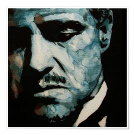 Premium-Poster  The Godfather   Marlon Brando - Paul Lovering