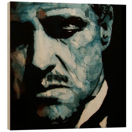 Holzbild  The Godfather   Marlon Brando - Paul Lovering Arts