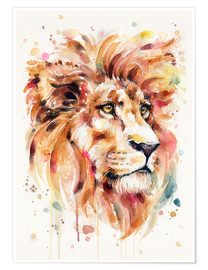 Premium-Poster All Things Majestic (Lion)