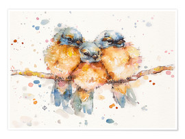Premium-Poster Little Bluebirds