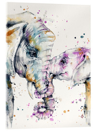 Acrylglasbild  That Type Of Love (elephants) - Sillier Than Sally