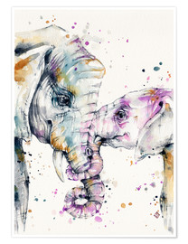 Premium-Poster That Type Of Love (elephants)